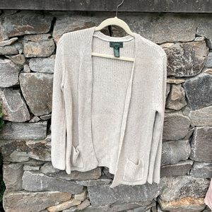 Ralph Lauren silk and cotton blend knit cardigan